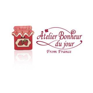 フランス輸入ボタン アトリエ・ボヌール・ドゥ・ジュール【ストリベリージャム 】
