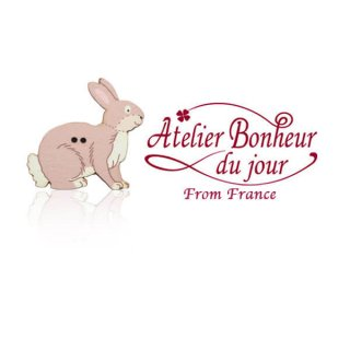 フランス輸入ボタン アトリエ・ボヌール・ドゥ・ジュール【うさぎ・ラビット 】