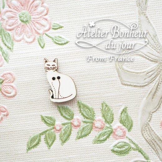 フランス輸入ボタン アトリエ・ボヌール・ドゥ・ジュール【猫・キャット A】【画像5】