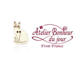 フランス輸入ボタン アトリエ・ボヌール・ドゥ・ジュール【猫・キャット A】