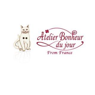 フランス輸入ボタン アトリエ・ボヌール・ドゥ・ジュール【猫・キャット B】