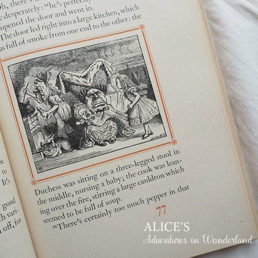 【送料無料】イギリス 1941年 アンティーク本 不思議の国のアリス 童話 Adventure in Wonderland【画像4】