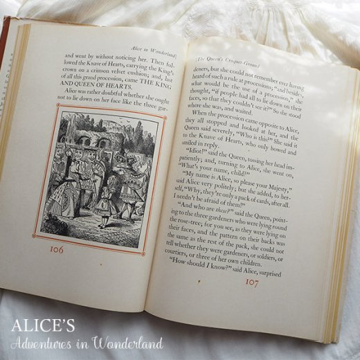 【送料無料】イギリス 1941年 アンティーク本 不思議の国のアリス 童話 Adventure in Wonderland【画像9】