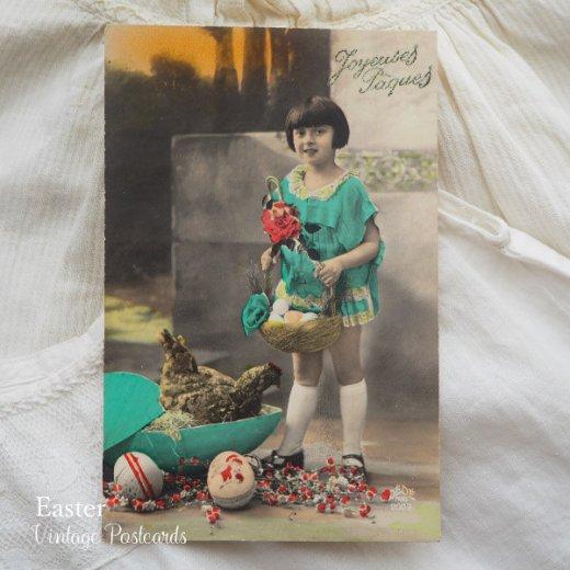 フランス ヴィンテージ 3枚組 色彩写真 イースター(復活祭)ポストカード【画像4】