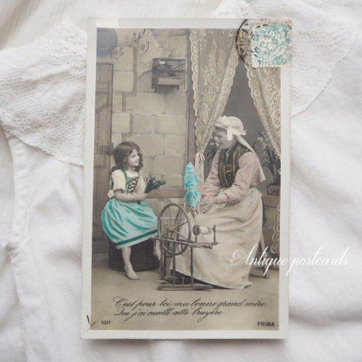 フランス 1900年初頭 アンティーク 5枚組 色彩写真  ポストカード【画像3】
