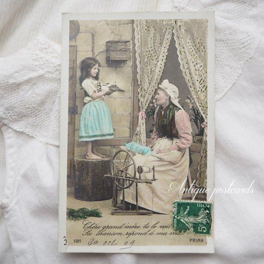フランス 1900年初頭 アンティーク 5枚組 色彩写真  ポストカード【画像5】