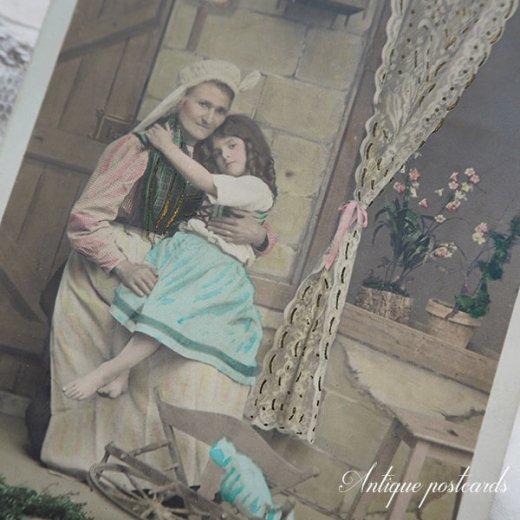 フランス 1900年初頭 アンティーク 5枚組 色彩写真  ポストカード【画像8】
