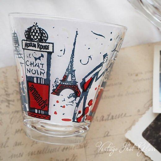フランス アンティーク ショットグラス【単品売り】エッフェル塔 プードル