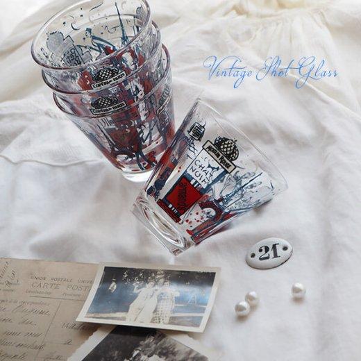 フランス アンティーク ショットグラス【単品売り】エッフェル塔 プードル【画像7】