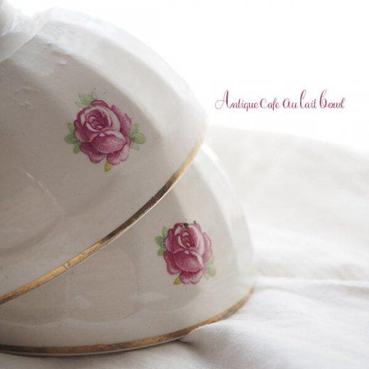 【送料無料】フランス アンティーク バラのカフェオレボウル【単品売り】【画像6】