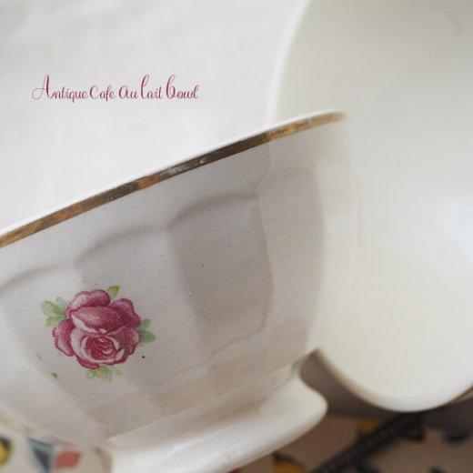 【送料無料】フランス アンティーク バラのカフェオレボウル【単品売り】【画像8】