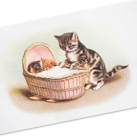 フランス ポストカード 猫 キャット (lit d'enfant)【画像2】
