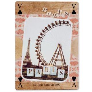 フランス 封筒付きポストカード 【エッフェル塔と観覧車】エディション ミロンテーン Editions Mirontaine