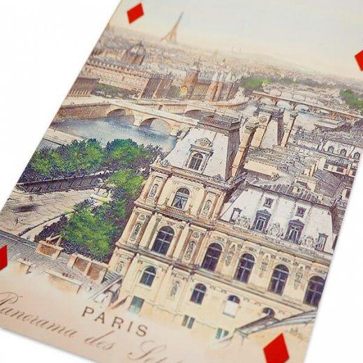 フランス 封筒付きポストカード 【エッフェル塔とセーヌ川にかかる7つの橋】 エディション ミロンテーン Editions Mirontaine【画像5】
