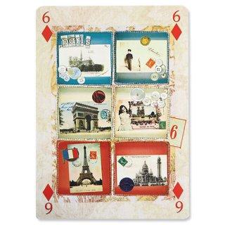 フランス 封筒付きポストカード 【パリからの6通の便り エッフェル塔・凱旋門】 エディション ミロンテーン Editions Mirontaine