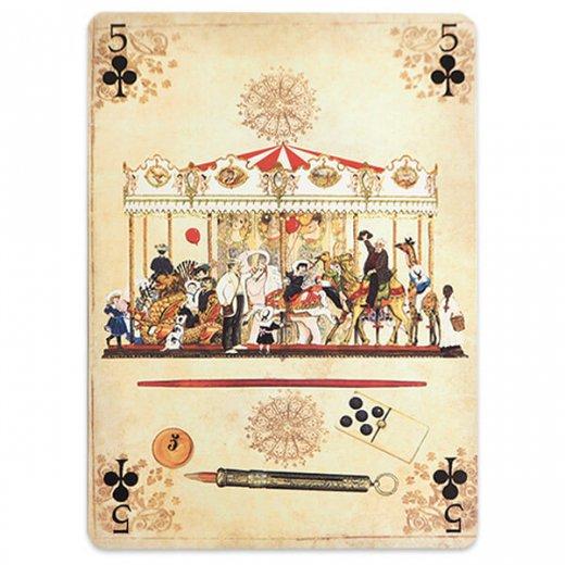 フランス 封筒付きポストカード 【メリー・ゴー・ラウンド】 エディション ミロンテーン Editions Mirontaine