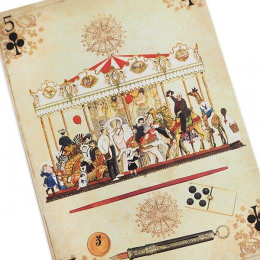 フランス 封筒付きポストカード 【メリー・ゴー・ラウンド】 エディション ミロンテーン Editions Mirontaine【画像2】