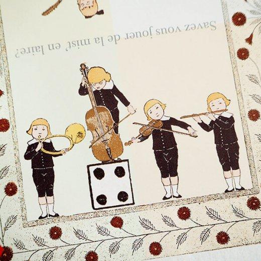 フランス 封筒付きポストカード 【フランスの歌】 エディション ミロンテーン Editions Mirontaine【画像4】
