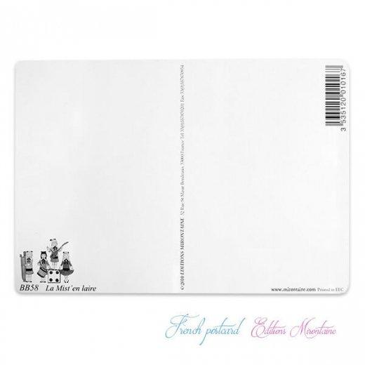 フランス 封筒付きポストカード 【フランスの歌】 エディション ミロンテーン Editions Mirontaine【画像5】