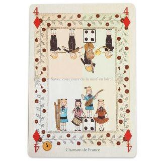 フランス 封筒付きポストカード 【フランスの歌】 エディション ミロンテーン Editions Mirontaine