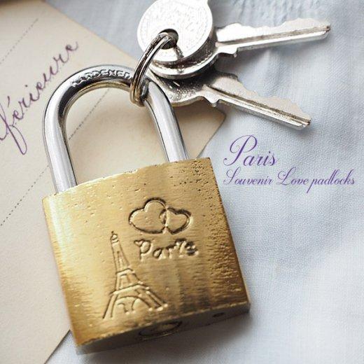 フランス直輸入!フランス 南京錠 スーベニア お土産 お守り【ラブロック・Love padlocks】