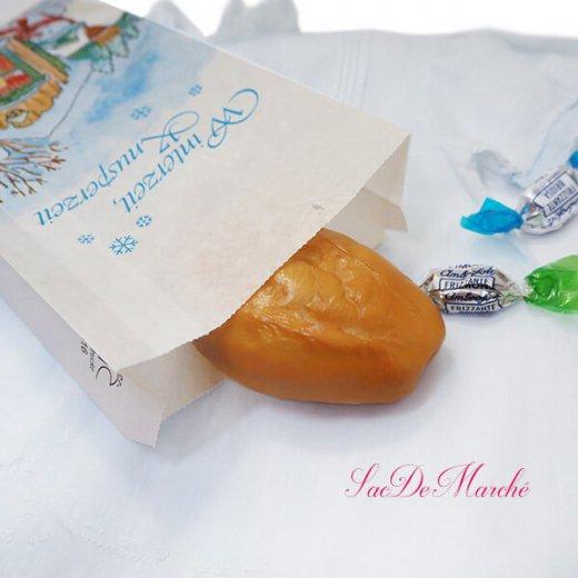 マルシェ袋 ドイツ 海外市場の紙袋(雪だるまB)5枚セット【画像4】
