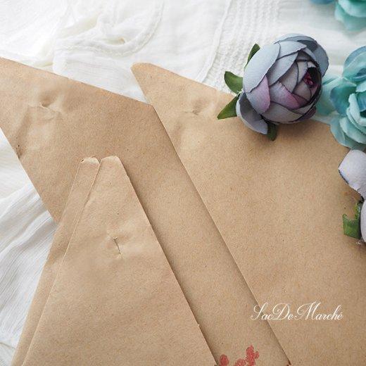 マルシェ袋 ドイツ 海外市場の紙袋 三角(フルーツB)5枚セット【画像3】