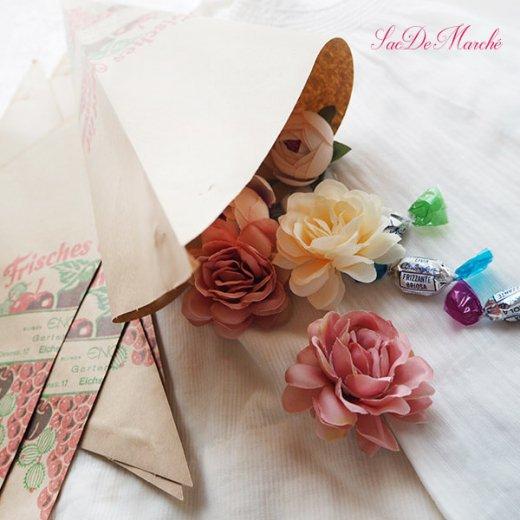 マルシェ袋 ドイツ 海外市場の紙袋 三角(フルーツB)5枚セット【画像6】