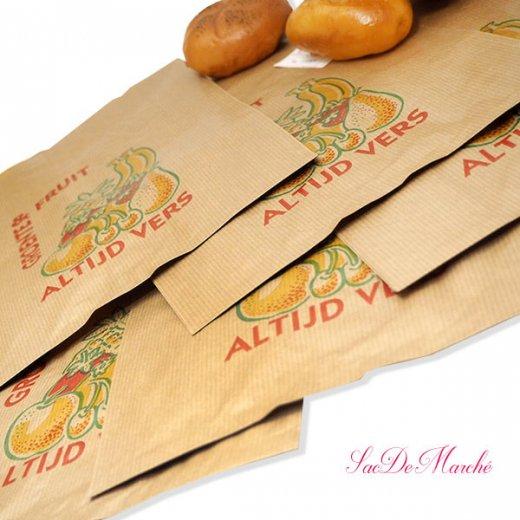 マルシェ袋 オランダ 海外市場の紙袋 Lサイズ (野菜とフルーツ)5枚セット【画像4】