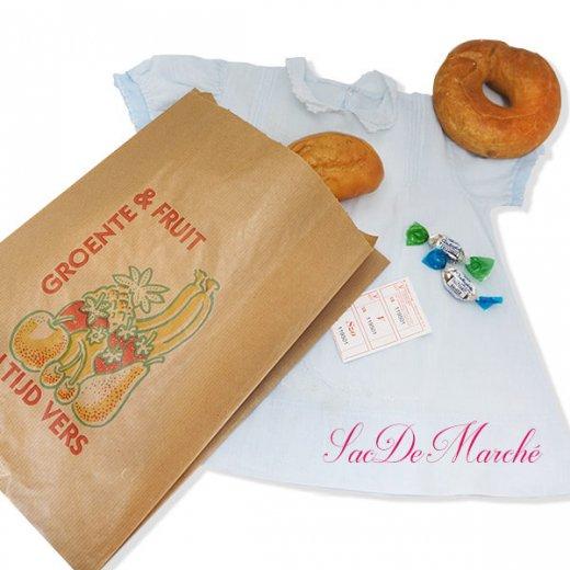 マルシェ袋 オランダ 海外市場の紙袋 Lサイズ (野菜とフルーツ)5枚セット【画像6】