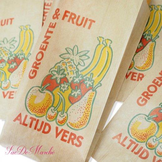 マルシェ袋 オランダ 海外市場の紙袋 Mサイズ (野菜とフルーツ)5枚セット【画像2】