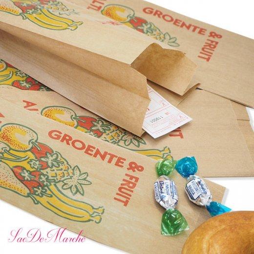 マルシェ袋 オランダ 海外市場の紙袋 Mサイズ (野菜とフルーツ)5枚セット【画像3】