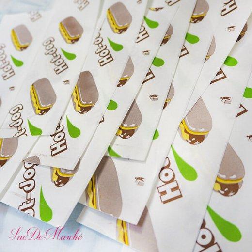 マルシェ袋 ポーランド 海外市場の紙袋 (ホットドッグ)10枚セット