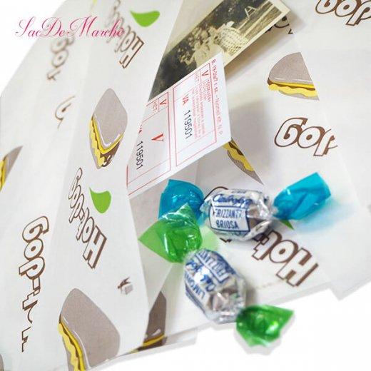 マルシェ袋 ポーランド 海外市場の紙袋 (ホットドッグ)10枚セット【画像3】