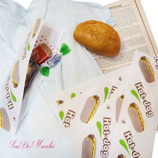 マルシェ袋 ポーランド 海外市場の紙袋 (ホットドッグ)10枚セット【画像5】