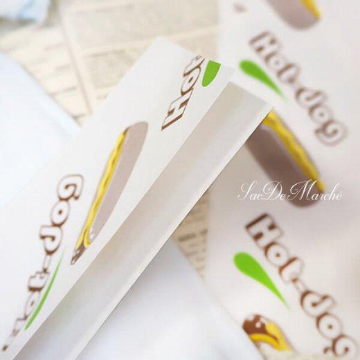 マルシェ袋 ポーランド 海外市場の紙袋 (ホットドッグ)10枚セット【画像7】