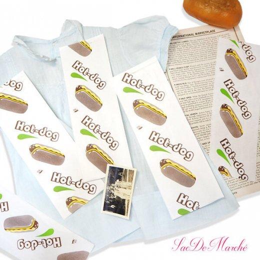 マルシェ袋 ポーランド 海外市場の紙袋 (ホットドッグ)10枚セット【画像9】