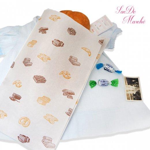 マルシェ袋 ハンガリー 海外市場の紙袋 Lサイズ (ブレッド スイーツ)5枚セット【画像7】