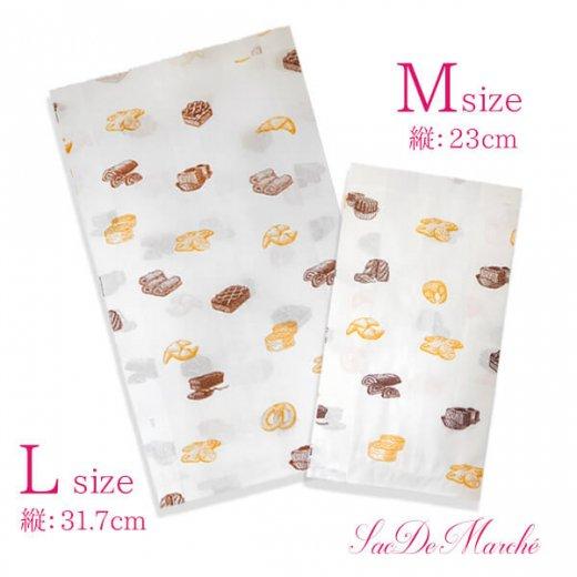 マルシェ袋 ハンガリー 海外市場の紙袋 Mサイズ (ブレッド スイーツ)5枚セット【画像6】