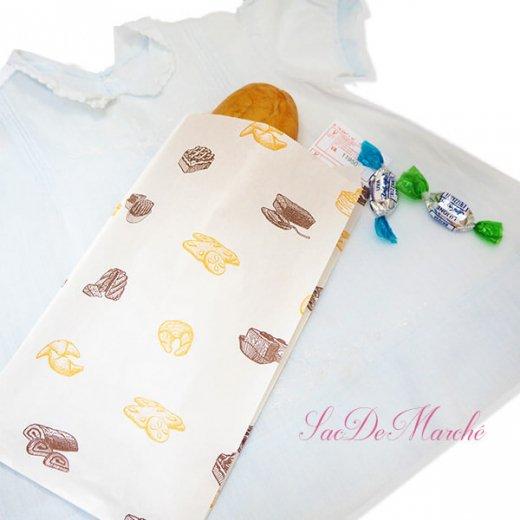 マルシェ袋 ハンガリー 海外市場の紙袋 Mサイズ (ブレッド スイーツ)5枚セット【画像7】