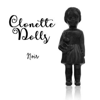 インテリア フランス クロネットドール clonette dolls【Noir】