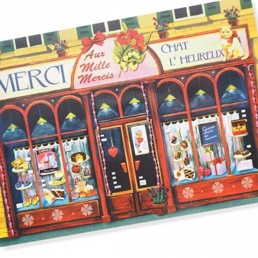 フランス ポストカード(Merci Chat L' Heureux)【画像2】