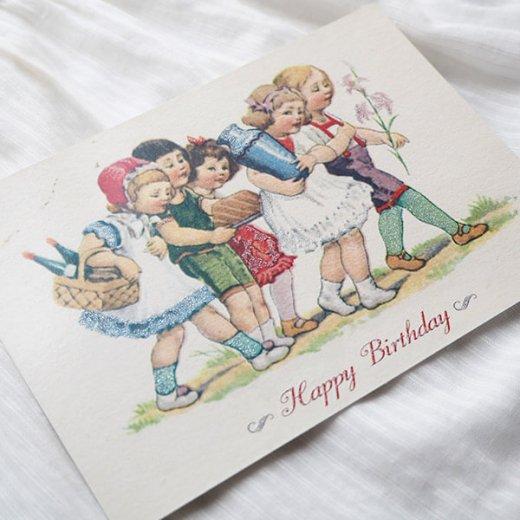 ドイツ ラメ入り ポストカード  ググロフ(Happy Birthday)【画像3】