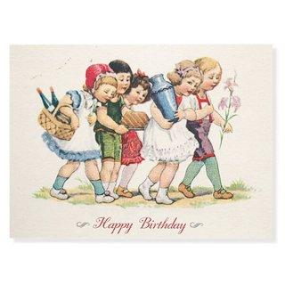 ドイツ ラメ入り ポストカード  ググロフ(Happy Birthday)