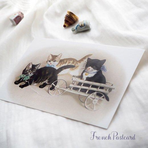 フランス ポストカード 猫 キャット (Bogie)【画像3】
