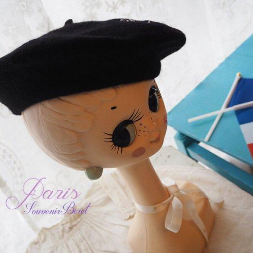 フランス直輸入!エッフェル塔ロゴ入り ベレー帽【お土産 スーベニア】【画像4】