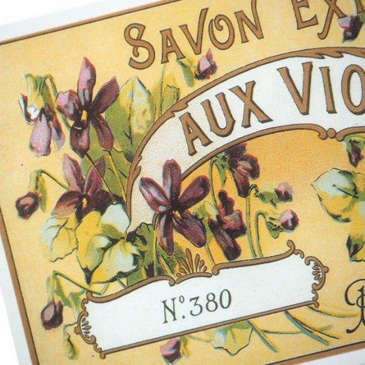 フランス ミニポストカード サボンアドカード (Violettes de NICE)【画像4】