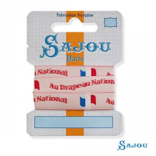フランス SAJOU リボンテープ  【Au Drapeau National フランス国旗】