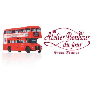 フランス輸入ボタン アトリエ・ボヌール・ドゥ・ジュール【ロンドンバス】