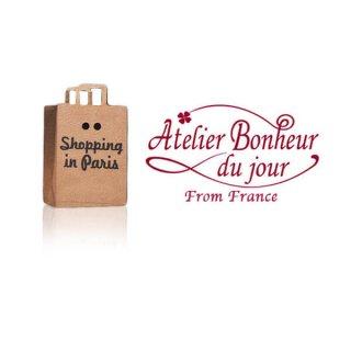 フランス輸入ボタン アトリエ・ボヌール・ドゥ・ジュール【PARIS ショッピングバッグ】